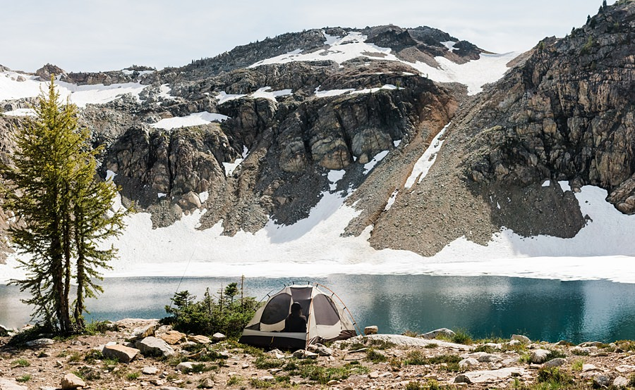 campsite at wing lake