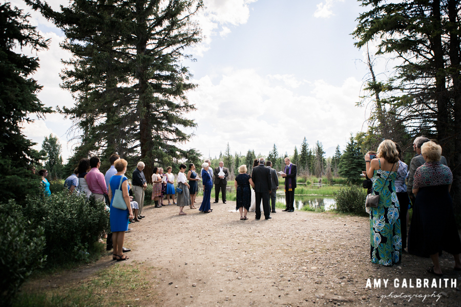 small wedding at schwabacher's landing