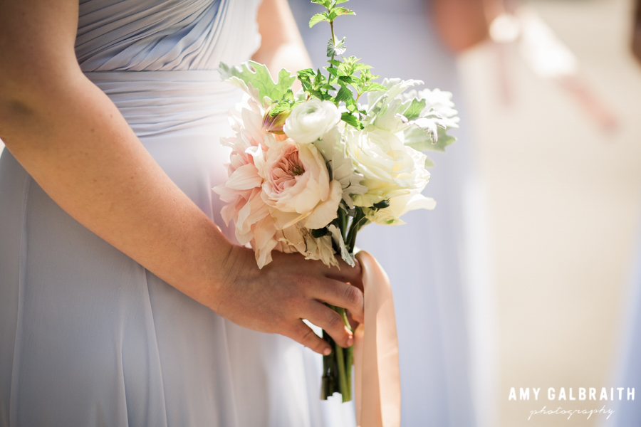 pink and white pastel bridesmaid bouquets by sweetly hosted