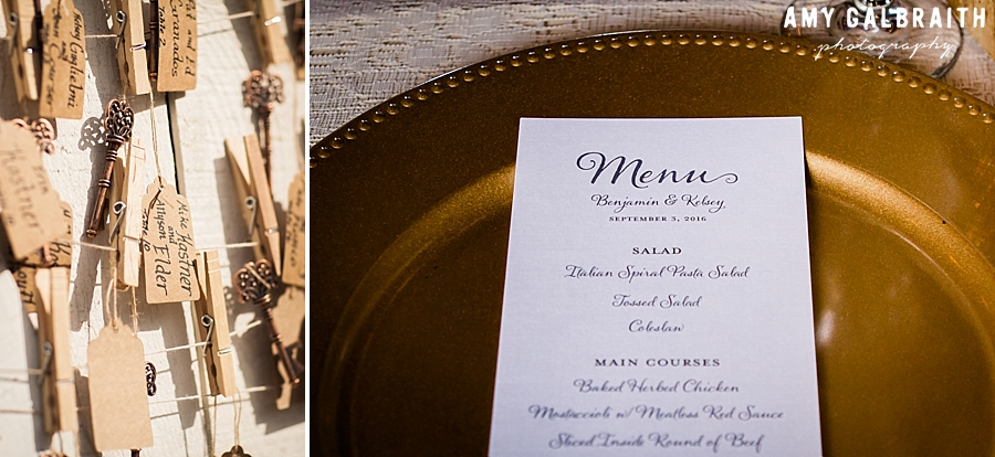 menu at over the vines