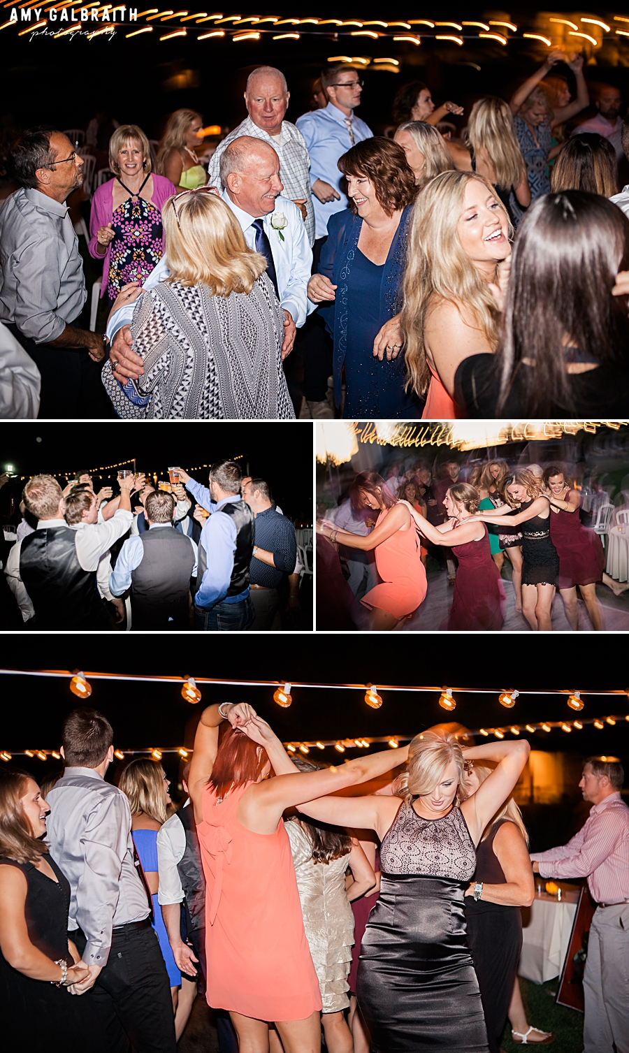 dancing under bistro lights at boise wedding