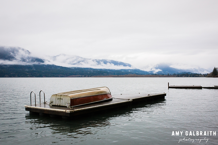 lake quinault in winter