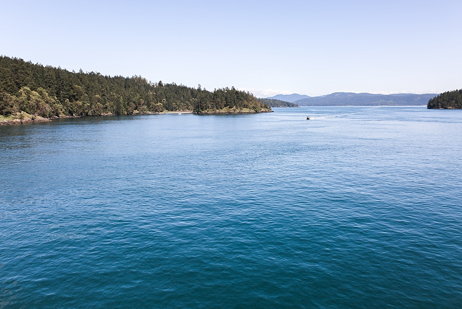 views from the ferry from orcas island to anacortes