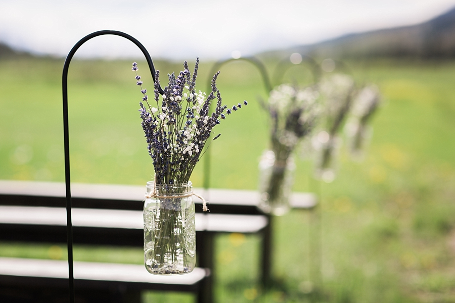 shepherds hooks with lavender for wedding ceremony