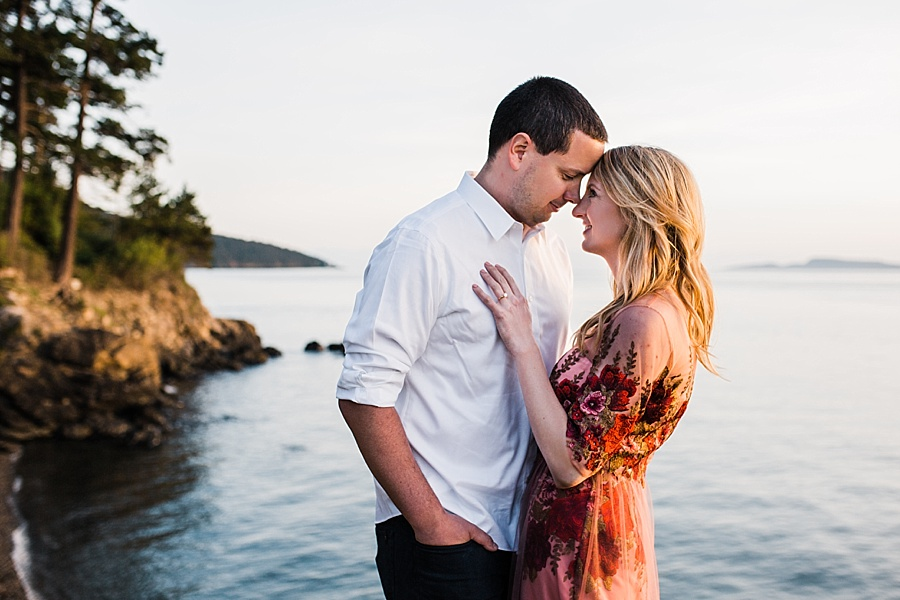 sailboat engagement photos in anacortes, washington