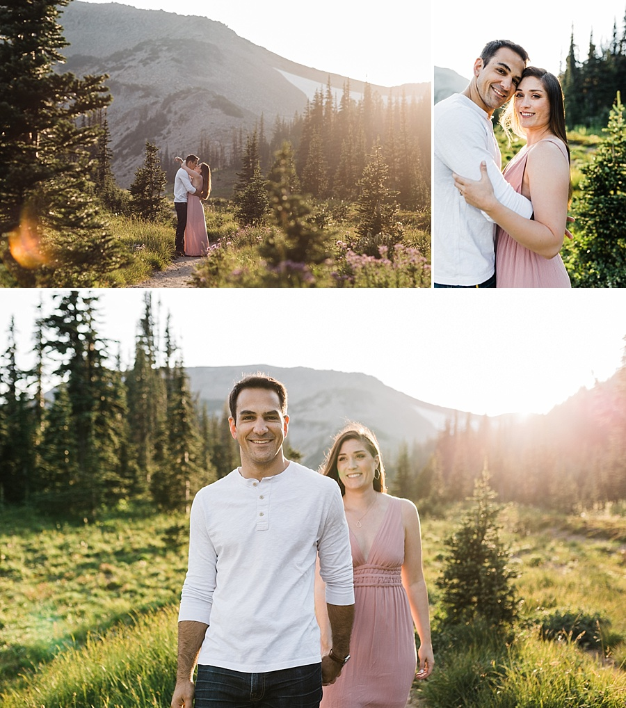 Engagement Photos taken at Mount Rainier National Park by Seattle Adventure Wedding Photographer Amy Galbraith