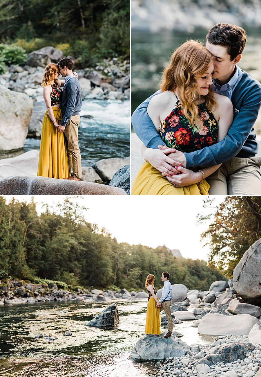 Fall Engagement Photos in Index, Washington by Seattle Mountain Wedding Photographer Amy Galbraith Photography