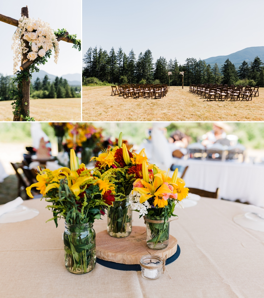 Laid-Back Farm Wedding on the Olympic Peninsula in Washington State Photographed by Amy Galbraith Photography