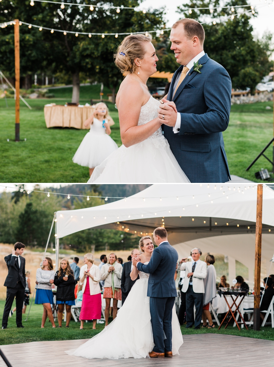 Sun Mountain Lodge Wedding in Winthrop photographed by outdoor wedding photographer Amy Galbraith