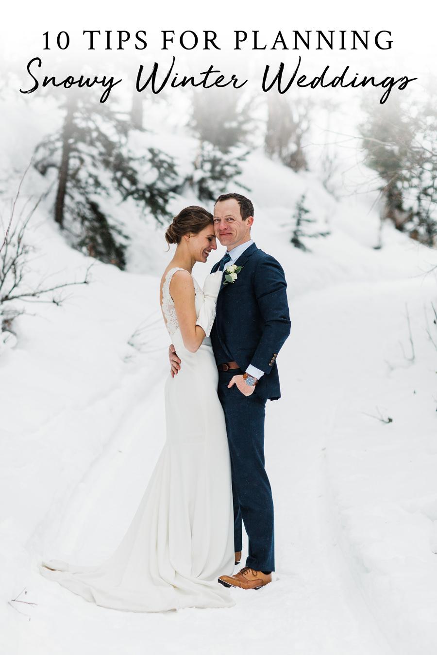 How to Plan a Winter Wedding by Adventure Wedding Photographer Amy Galbraith