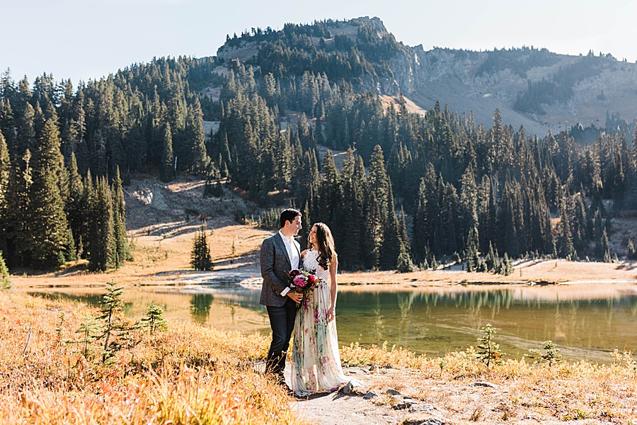 Couples Session at Mt Rainier by Adventure Wedding Photographer Amy Galbraith