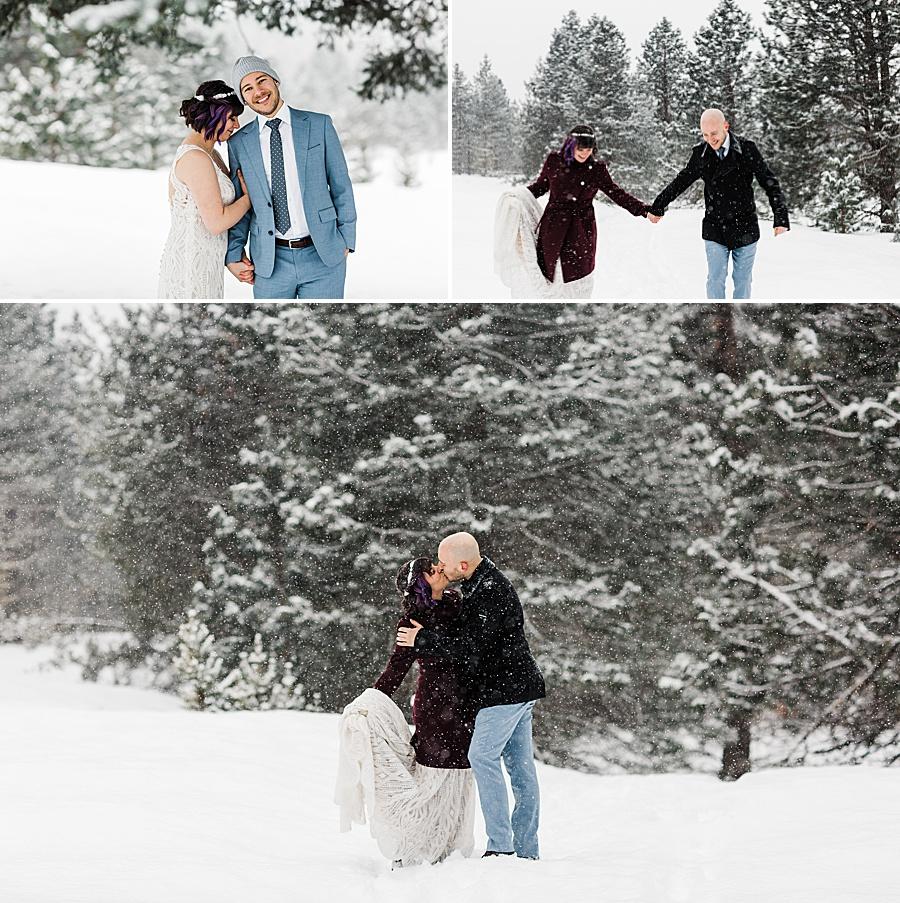 Leavenworth Winter Wedding at Pine River Ranch by Outdoor Wedding Photographer Amy Galbraith