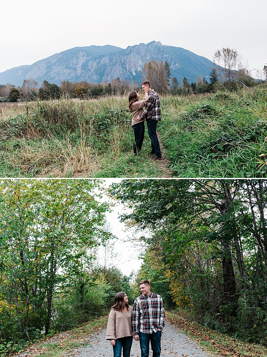 North Bend Engagement Photos with Seattle mountain wedding photographer Amy Galbraith